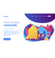 moving house services concept landing page vector image