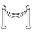 museum barrier icon outline style vector image