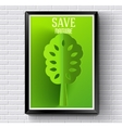 nature tree or template with green background on vector image