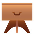 one drawer nightstand icon cartoon style vector image vector image