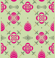 ornaments from stencil of flowers and leaves vector image vector image