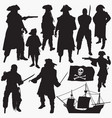 pirates silhouettes vector image