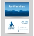 Pure water delivery business card template vector image vector image