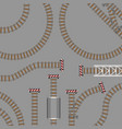 railway parts grey rails vector image vector image