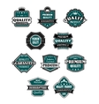 Retro labels set for retail industry vector image vector image