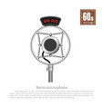 retro microphone on white background vector image vector image