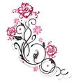 Rose leaf love vector image vector image