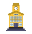 School building isolated icon vector image