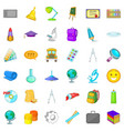 school bus icons set cartoon style vector image vector image