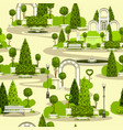 seamless park pattern vector image