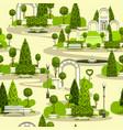 Seamless park pattern