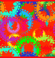 seamless texture of bright red gears and laurel vector image