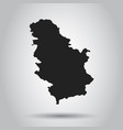 serbia map black icon on white background vector image vector image