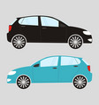 set of two isolated cars in flat style vector image vector image