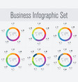 set with infographics vector image vector image
