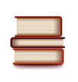 Stack of books isolated on white vector image vector image