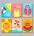 summer layout design cover book banner card vector image vector image