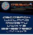 Technology Font Image vector image vector image