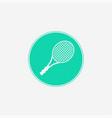 tennis icon sign symbol vector image vector image