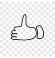 thumb up concept linear icon isolated on vector image