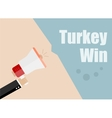 Turkey win Flat design business vector image vector image
