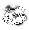 unicorn pop art style vector image