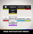 Web Navigation Menu vector image