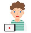 youtuber icon profession and job vector image vector image
