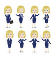 blonde female character business woman vector image
