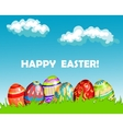 Colourful Happy Easter greeting card design vector image