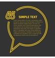 Square quote text bubble vector image