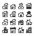 houses buildings icons set vector image