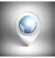 Map pointer with globe of world White icon vector image