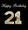 21th happy birthday vector image vector image