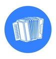 Accordion icon in black style isolated on white vector image vector image