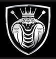 animals art attack black cartoon cobra vector image vector image
