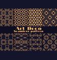art deco set seamless pattern retro vector image vector image