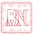 BN monogram vector image vector image