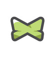 bow tie butterfly clothes icon cartoon vector image