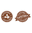 cafeteria stamp seals with grunge texture in vector image vector image