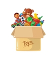 cardboard box for children vector image vector image