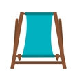 chair beach isolated icon vector image vector image