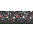 Chalkboard art hearts horizontal border seamless vector image