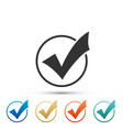 check mark in round icon check list button sign vector image vector image
