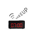 clock with wake up alarm vector image