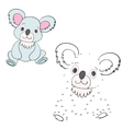 Connect the dots game koala vector image