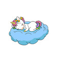 cute little unicorn sweet dreams print sleep vector image vector image