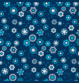 deep blue snowflake seamless pattern vector image vector image