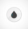 drop icon 2 colored vector image vector image
