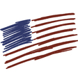 Flag of USA United States of America handmade vector image